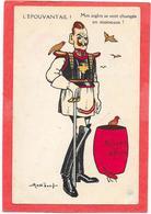 """GUERRE 14/18 - Satirique Humoristique - GUILLAUME L'EPOUVANTAIL """"Mes Aigles Se Sont Changés En Moineaux"""" MASS'BEUF - Weltkrieg 1914-18"""