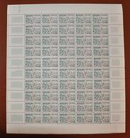 Feuille Complète De 50 Timbres FRANCE 1953 N°961 ** (JEUX OLYMPIQUES D'HELSINKI 1952. ATHLÉTISME. 25F) - Feuilles Complètes