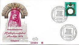"BRD Schmuck-FDC ""Heiligtumsfahrt Aachen"" Mi.1017  ESSt BONN 12.7.1979 - FDC: Sobres"