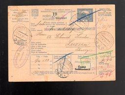 """1920 Bulletin D'expedition Hradcany   Pour  Suisse 1923 TB """"19"""" - Entiers Postaux"""