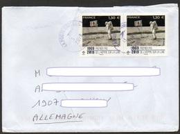 Frankreich 2019  Brief / Letter/ Lettre  100g Europa ,  MiNr. 7374 (2) ; 50. Jahrestag 1. Bemannte Mondlandung - France