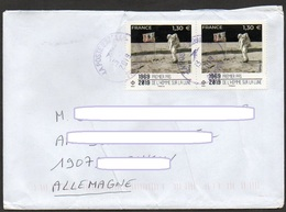 Frankreich 2019  Brief / Letter/ Lettre  100g Europa ,  MiNr. 7374 (2) ; 50. Jahrestag 1. Bemannte Mondlandung - Francia