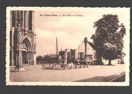 Sint-Gillis-Waas - De Gemeenteplaats - Uitgave Em. Van Den Bosch (Kruidenierswaren) - Sint-Gillis-Waas
