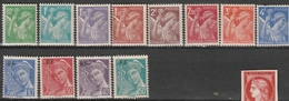 FRANCE   Type Iris Et Type Mercure     N° Y&T  649 à 660  ** - Unused Stamps