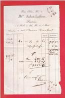 FACTURE ENTRE 1820 ET 1829 MADAME JUIBERT LACHEVRE FACTRICE A LA HALLE AU BLE N° 6 A PARIS VENTE 41 SETIERS DE BLE - 1800 – 1899