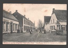 Sint-Gillis-Waas - Blokstraat Met Het Hospitaal - Uitgave Cesar Rombaut-Heyndrickx, Schilder - 1907 - Café - Slachter - Sint-Gillis-Waas