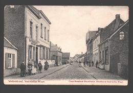 Sint-Gillis-Waas - Statiestraat - Uitgave Cesar Rombaut-Heyndrickx, Schilder - 1907 - Zeer Geanimeerd - Sint-Gillis-Waas