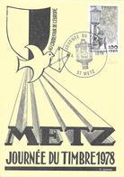 FETE DU TIMBRE 1978 DE METZ DU 08/04/78 - Gedenkstempel