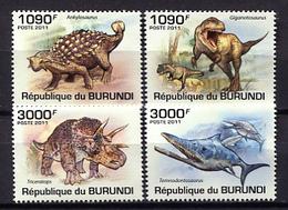Burundi 2011 / Prehistoric Animals MNH Dinosaurios Prähistorischen Tieren / Cu1430  31-22 - Préhistoriques