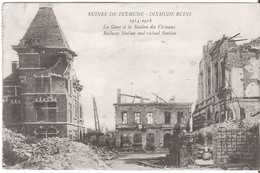 Ruines De DIXMUDE - DIKSMUIDE - Gare Et Station Des Vicinaux - Diksmuide