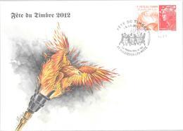 FETE DU TIMBRE 2012 DE MAIZIERES LES METZ DU 13/10/12 - Gedenkstempel