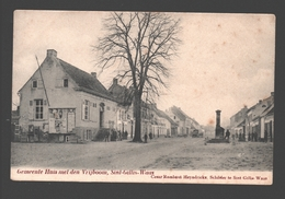 Sint-Gillis-Waas - Gemeente Huis Met Den Vrijboom - Uitgave Cesar Rombaut-Heyndrickx, Schilder - 1907 - Sint-Gillis-Waas
