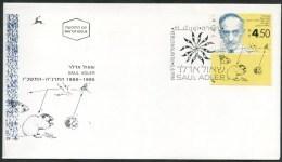 1994 Israele, Saul Adler, FDC Non Viaggiata, Serie Completa - FDC