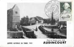FETE DU TIMBRE 1949 DE AUDINCOURT DU 26/03/49 - Marcophilie (Lettres)