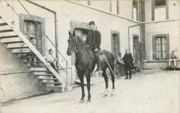 51 - AY En CHAMPAGNE - Carte Photo D'un Soldat Sur Cheval - Cuirassier ? Régiment De Cavalerie ? Révolution 1911 ? - Ay En Champagne