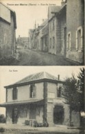 51 - TOURS SUR MARNE - Rare Carte Postale 2 Vues - Rue Du Bureau Et La Gare - TOP - Autres Communes