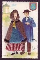 Carte Brodée - Berry N° 40 - Costumes Régionaux ( 2 Scans ) - Brodées