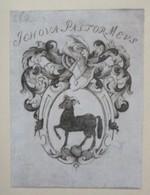 """Ex-libris Illustré Héraldique XVIIIème - FRISCHING (Berne) - Devise """"Jehova Pastor Meus"""" - Bélier - Ex Libris"""