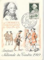 FETE DU TIMBRE 1949 DE AUDINCOURT DU 26/03/49 - Gedenkstempel