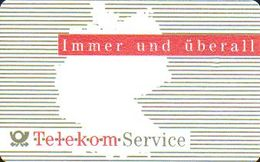 GERMANY A24/91 Telekom - Service - Landkarte - 1204 Kl. Nr. - Germany