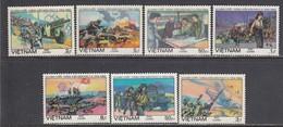 Vietnam 1984 - 30th Anniversary Of The Battle Of Dien Bien Phu, Mi-Nr. 1444-50, Perf., MNH** - Vietnam