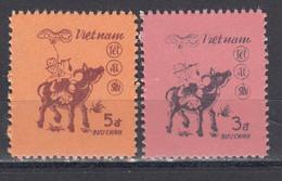 Vietnam 1985 - Year Of The Buffalo, Mi-Nr. 1544/45, MNH** - Vietnam