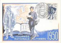 FETE DU TIMBRE 1950 DE BELFORT DU 11/03/50 - Gedenkstempel
