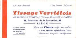 Liège - Buvard Tissage Verviétois - Bd De La Sauvenière - Textile & Vestimentaire