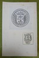2 Ex-libris Héraldiques XIXème - GRAFENRIED DE BURGENSTEM - Ex Libris