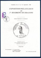 = Exposition Portes Ouvertes Régiment De Dragon Valdahon 15-16.sept.90 Général De Gaulle N°2634 - Philatelic Exhibitions