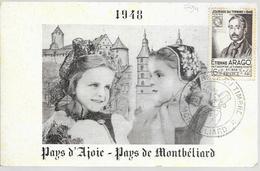 FETE DU TIMBRE 1948 DE MONTBELIARD DU 06/03/48 - Gedenkstempel