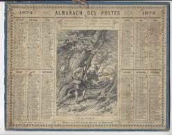 CALENDRIER ALMANACH DES POSTES 1874 CHASSE /FREE SHIPPING REGISTERED - Calendari