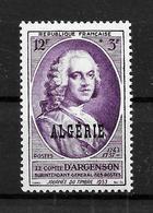 """ALGERIE Française : N° 303 ** """"comte D'Argenson"""" TB (cote 3,12 €) - Neufs"""