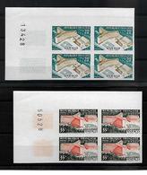 France N°1177/1178** Bloc De 4 Non Dentelés Cote 500€ - Ungezähnt