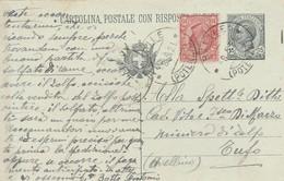 Barile. 1921. Annullo Guller BARILE (POTENZA), Su Cartolina Postale C. 15 Leoni, Integrata Con C.10 - 1900-44 Vittorio Emanuele III