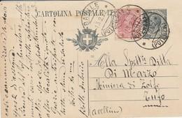 Barile. 1922. Annullo Guller BARILE (POTENZA), Su Cartolina Postale C. 15 Leoni, Integrata Con C.10 - 1900-44 Vittorio Emanuele III