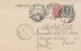 Barile. 1922. Annullo Guller BARILE (POTENZA), Su Cartolina Postale C. 15 Leoni, Integrata Con C.10. Nitido TUFO (6-124) - 1900-44 Vittorio Emanuele III