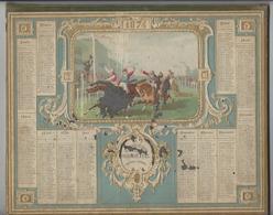 CALENDRIER ALMANACH DES POSTES 1874 HIPPISME OBERTHUR RENNES /FREE SHIPPING REGISTERED - Calendriers