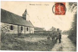 Brassy Somme - L'Église - Animée - Chien - Circulé- 1907 - Achille Dumont - Other Municipalities