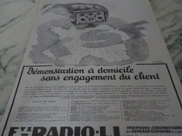 ANCIENNE PUBLICITE SUPERHETERODYNE RADIO LL 1926 - Autres