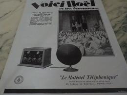 ANCIENNE PUBLICITE NOEL ET ETRENNES LE MATERIEL TELEPHONIQUE 1926 - Autres