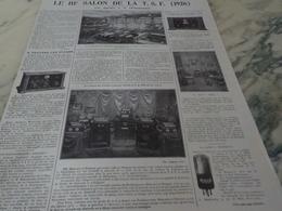 ANCIENNE PUBLICITE 3 SALON DE LA  TSF 1926 - Autres