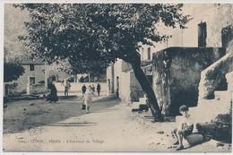 Cpa Corse Piana L'Interieur Du Village Animée - Autres Communes