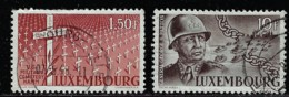 LUXEMBOURG A 1947 SCOTT 242,245 CANCELLED CAT VALUE US$37.70 - Usati