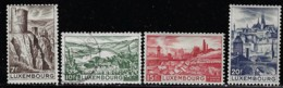LUXEMBOURG A 1947 SCOTT 245-246(o), 248*,249* CATALOGUE VALUE US$1.85 - Usati