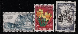 LUXEMBOURG A 1953-55 SCOTT 294,301,304 CANCELLED CATALOGUE VALUE US$2.05 - Usati