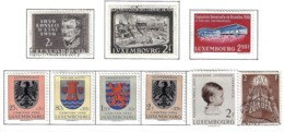 LUXEMBOURG A 1956-58 SCOTT 321,322,329 CANCELLED 326*,333*,B192-195* CATALOGUE VALUE US$4.55 - Usati