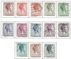 LUXEMBOURG A 1960-64 SCOTT 362-373 Cancelled  CATALOGUE VALUE US$4.35 - Usati