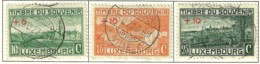 LUXEMBOURG B 1921 SCOTT B1-B3 CANCELLED CATALOGUE VALUE US$14.75 - Usati