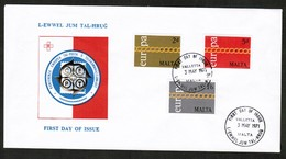 "MALTA   Scott # 425-7 On 1971 ""EUROPA"" FIRST DAY COVER (F.D.C.) (OS-544) - Malta"